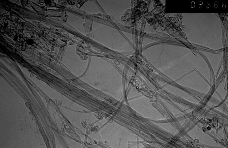 TEM Image of ACS Material Double-Walled Carbon Nanotubes (Length = ~50 μm)