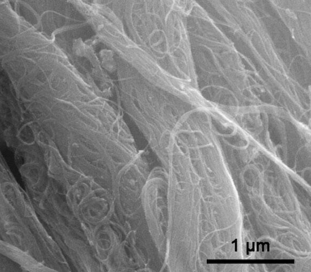 TEM Image of ACS Material Industrial SWNTs-OH (Length = 1-3 μm)