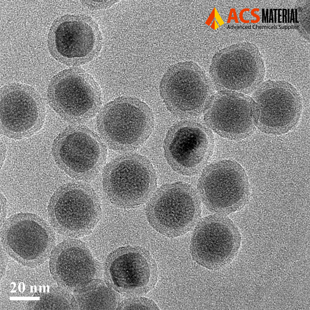 TEM Image of ACS Material PEG-COOH Modified Upconverting Nanoparticles