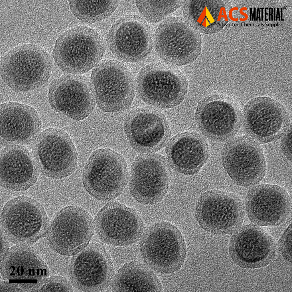 TEM Image of ACS Material SiO2-COOH Modified Upconverting Nanoparticles