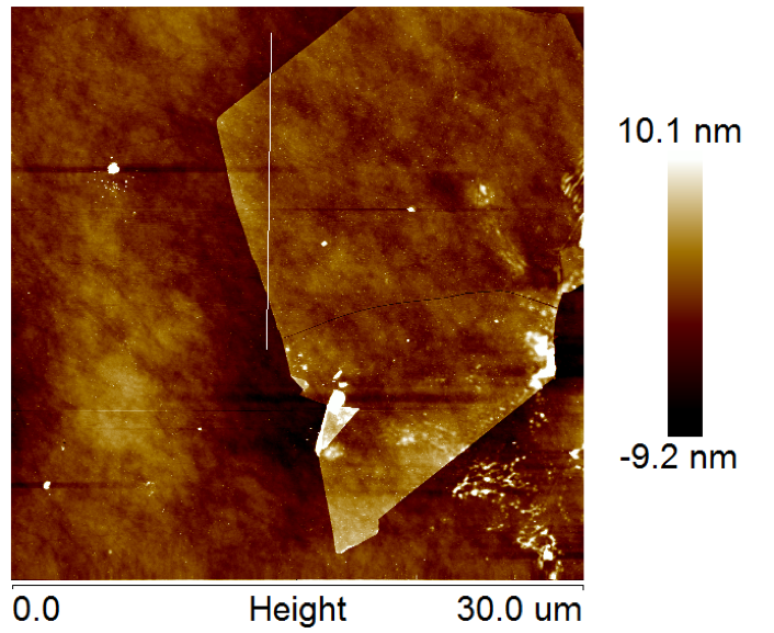 AFM of Monolayer MoS2 on SiO2