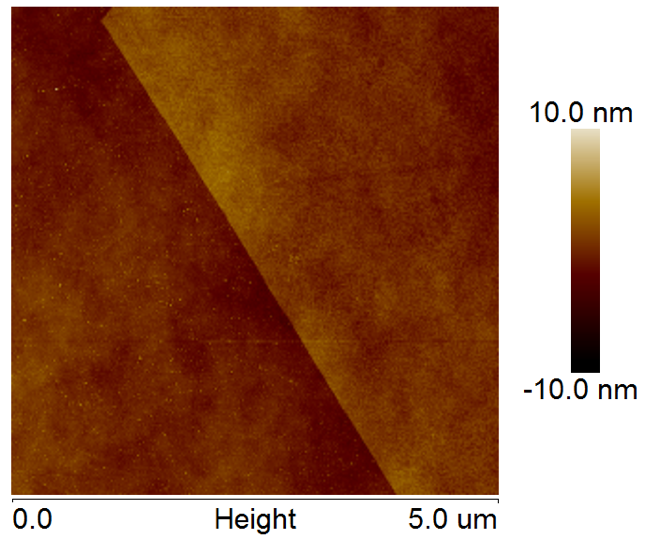 AFM of MoSe2 on SiO2