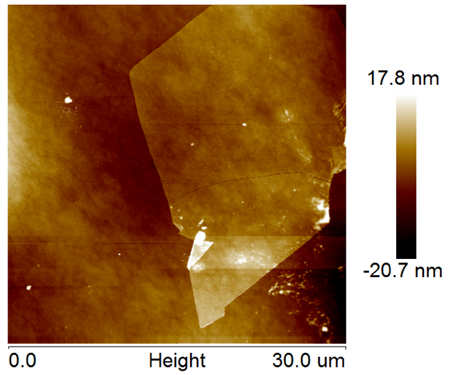 AFM of WS2 on SiO2