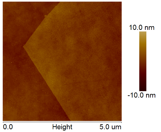 AFM of WSe2 on SiO2