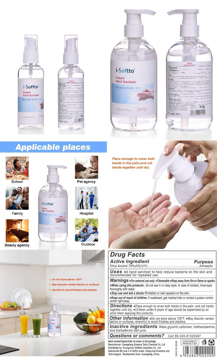 Instant Hand Sanitizer (Alcohol Gel)