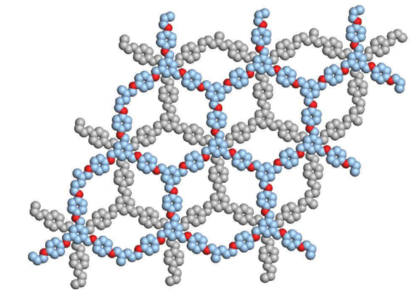 The architecture of ACS Material COF-LZU1 with a staggered arrangement