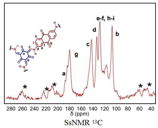 SsNMR Spectra of ACS Material DAAQ-TFP-COF
