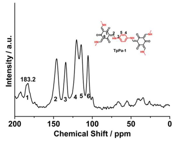 SsNMR Spectra of ACS Material COF-TpPa-1