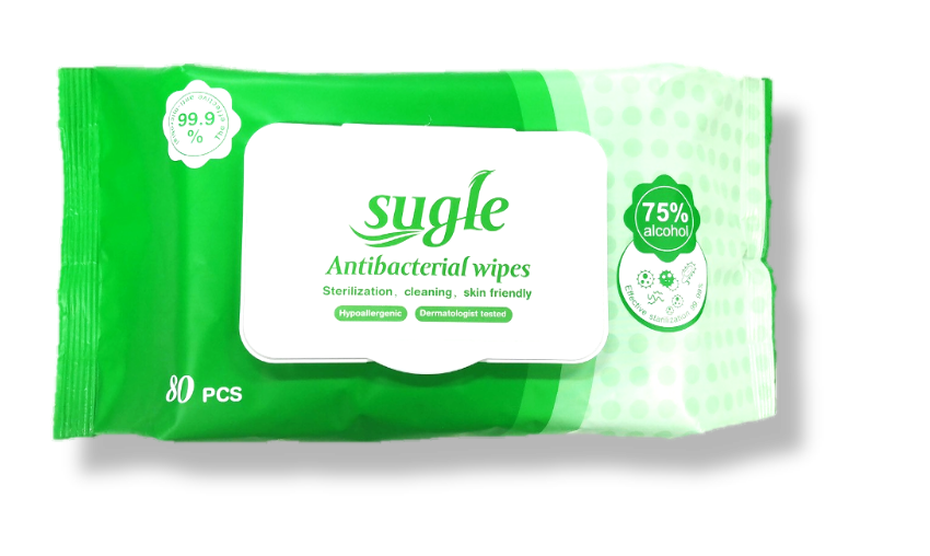 Antibacterial Wipes with 75% alcohol