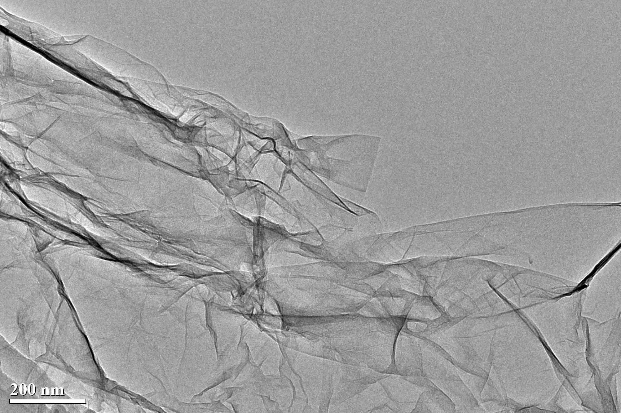 TEM Image of Single Layer Graphene